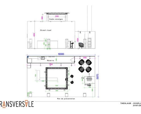Plan d'implantation de stand d'exposition pour Ecoplas