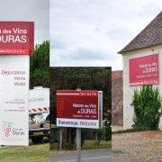 Réalisation de Signalétique extérieure pour l'interprofession des vins de Bergerac.