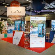 Aménagement stand salon professionnel au SETT de Montpellier pour Vacalians Group