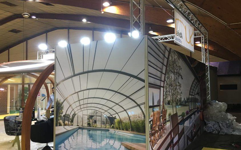 Fabrication d'une réserve en tissu tendu pour le Salon Atlantica La Rochelle