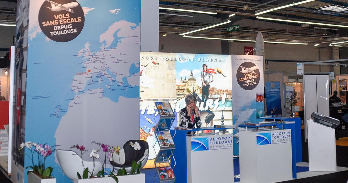 Conception et fabrication de stands pour l'aéroport de Toulouse Blagnac