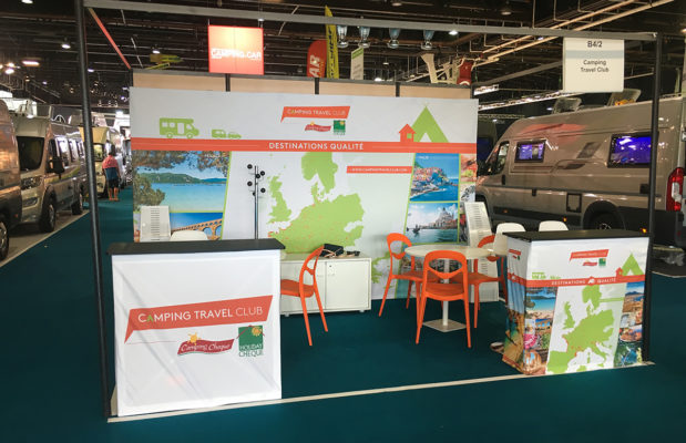 Stand displays Camping Travel Club