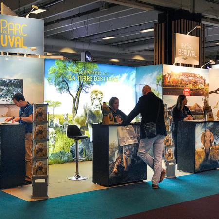 stand Le Transversale du Zoo de Beauval - salon CE 2017 et 2018