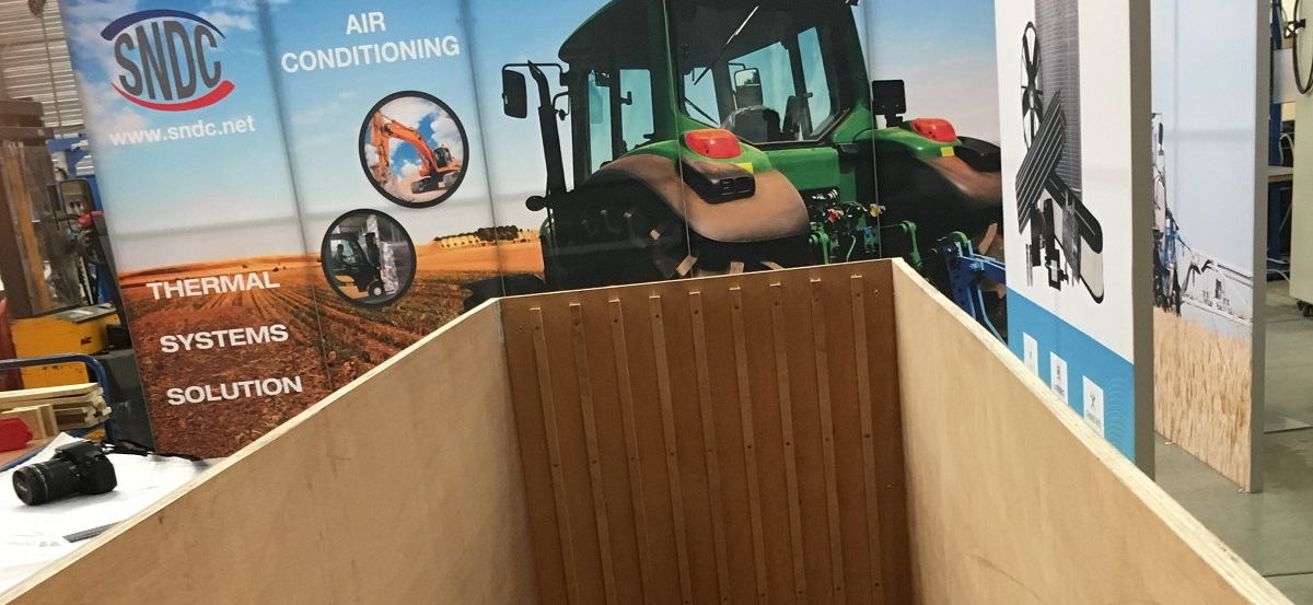 Caisse de transport sur roulettes pour transport de la totalité du stand