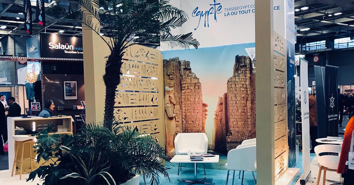 Agencement et scénographie du stand Egypte sur le salon MAP de Paris