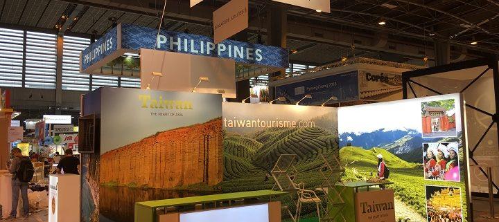 Stand image pour promouvoir la destination Taïwan auprès des professionnels du Tourisme