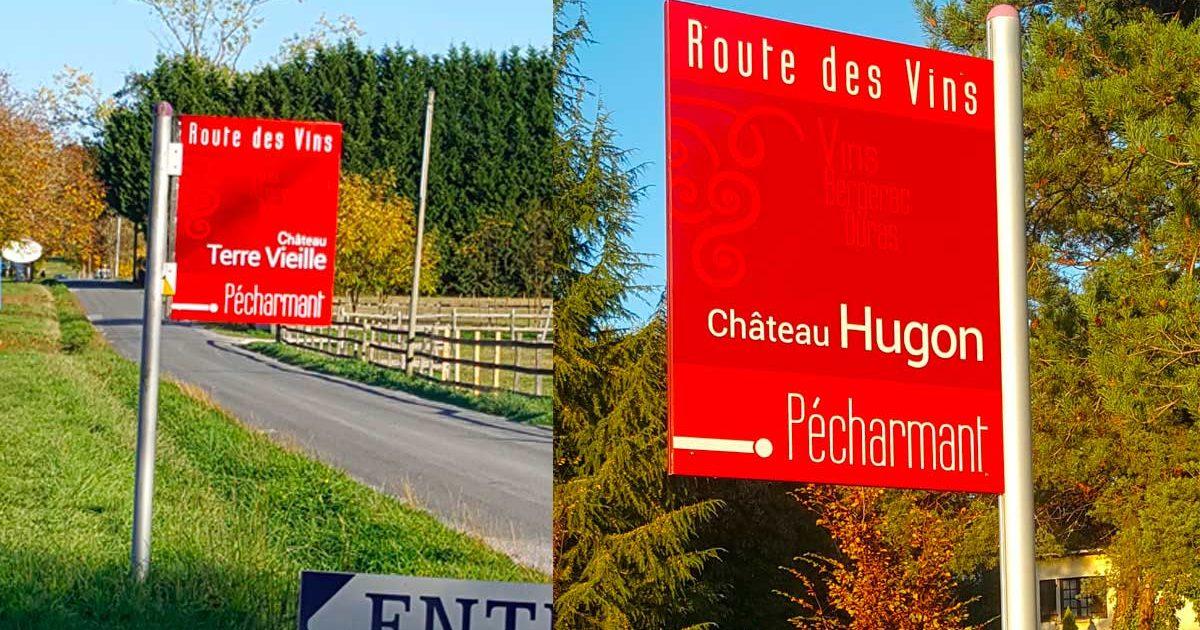 Fabrication de panneaux signalétique extérieurs pour la route des vins de Bergerac et Duras.