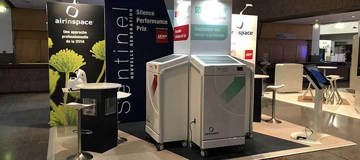 Conception et fabrication d'un stand Le Transversale pour le congrès SF2H au corum de Montpellier.