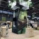 Conception et fabrication stand Costa Rica - enseigne haute végétalisée jungle - banques bois PEFC Visuels grands formats - impression numérique sur bois