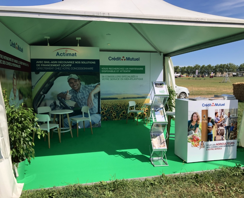 Stand Crédit mutuel Innovagri 2019